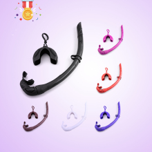 Silicone Foldable Snorkel with Compact Storage Case Women Men Roll Up Snorkel Wet Breathing Tube For Snorkeling