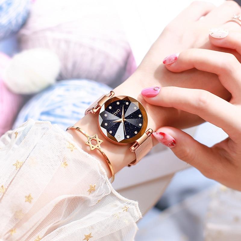 Image 2 - CIVO Fashion Luxury Ladies Crystal Watch Waterproof Rose Gold Steel Mesh Quartz Women Watches Top Brand Clock Relogio FemininoWomens Watches   -