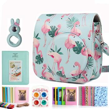 Fujifilm Instax Mini aparat natychmiastowy pakiet akcesoriów do Instax Mini 8 Mini 9 torba Album fotograficzny filtry soczewek zestaw naklejek tanie i dobre opinie CAIUL BŁYSKAWICZNY APARAT FOTOGRAFICZNY CN (pochodzenie) torby na ramię Torebki na aparat flamingo blue instax mini 9 8 camera case bundle