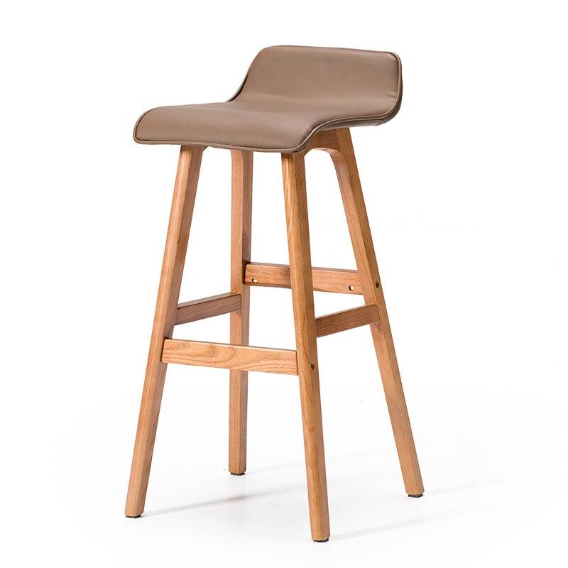 Solid Wood Bar Chair Creative Bar Chair European Bar Stool Bar Chair Simple Retro Bar Stool High Stool