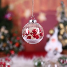 PTransparent Snowflake Ball Xmas Pendant Christmas Tree Hanging Ornament Christmas Decoration New Arrivals CM acryl resin snowflake christmas ornament jewelry vintage christmas resin snowflake 17cm x 4pcs