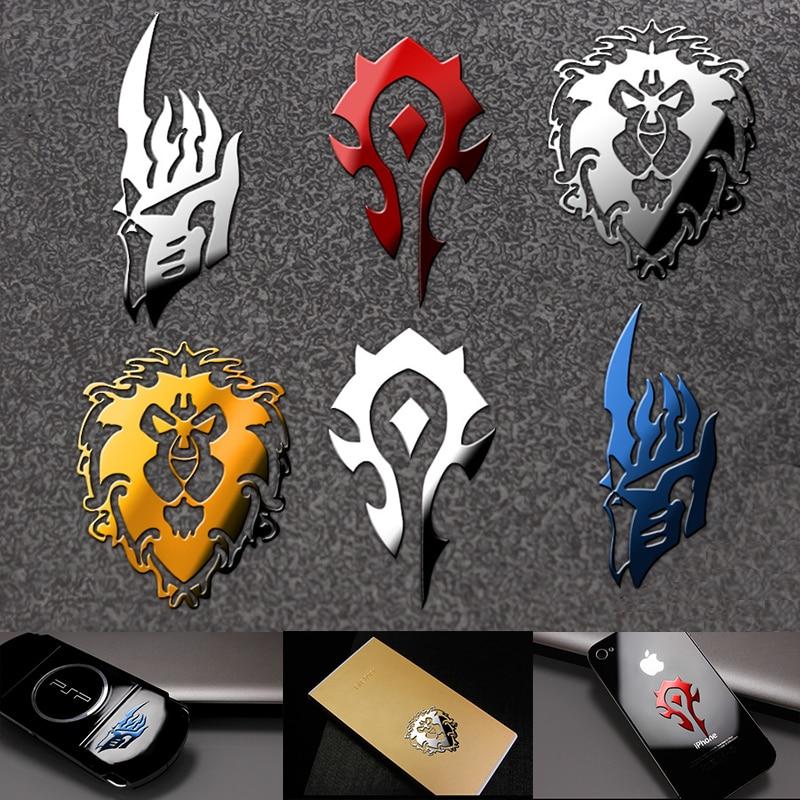 World Of Warcraft Metal Stickers Cosplay Prop Mobile Phone Refrigerator Laptop Sticker