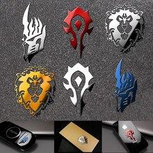 Mundo de warcraft metal adesivos cosplay prop telefone móvel geladeira portátil adesivo
