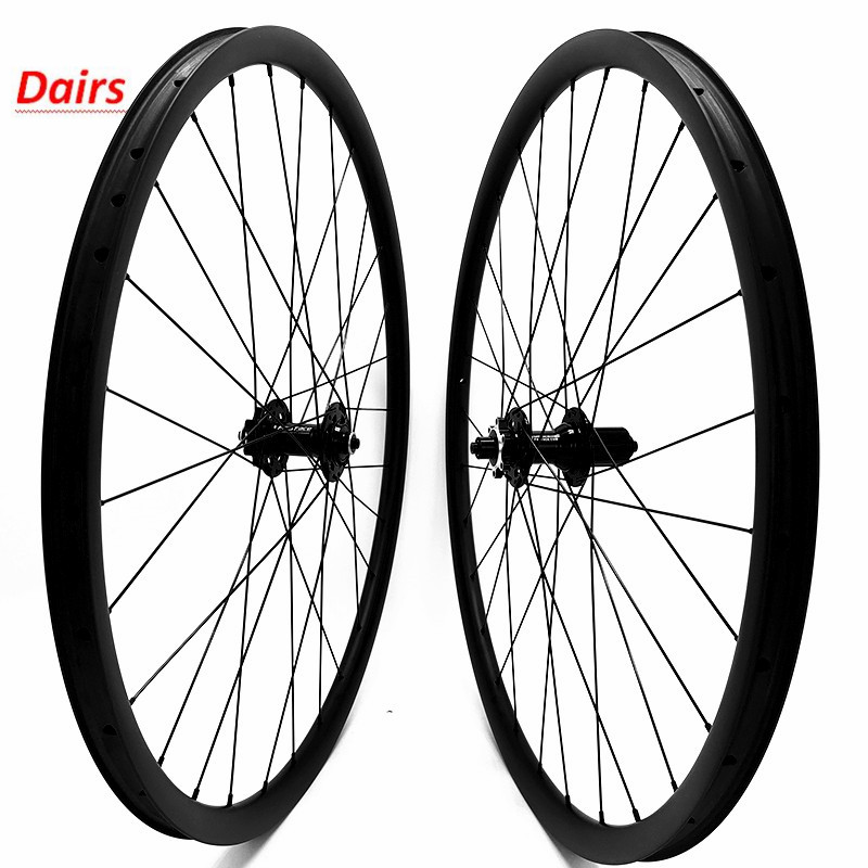 29er carbon mtb disc bike wheels 35x25mm hookless tubeless carbon wheels FASTace DA201 mtb disc wheelset 100x9 135x9 1660g