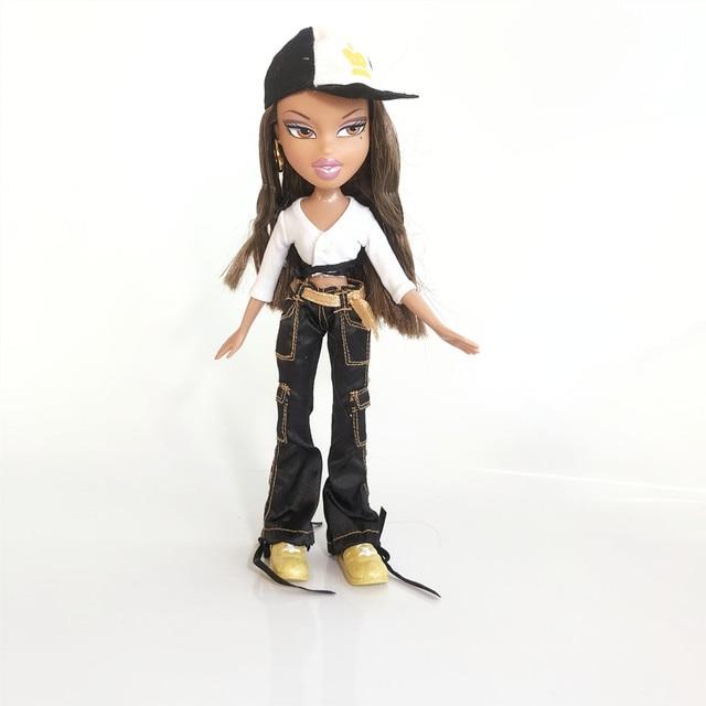 new 23cm dolls Original mgadoll Rare white hair Big lips Leisure gir Fashion Bratz Doll Action Figure doll Best Gift 2