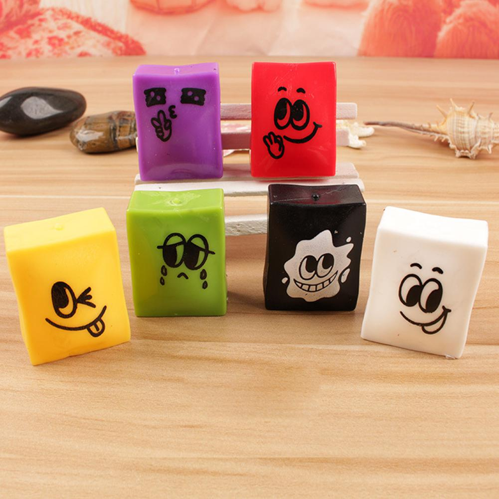 Cute Squishy Simulation Tofu Squeeze Toys Soft Stress Relief Vent Balls As Xmas Gifts
