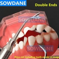 Dental Implant Tandvlees Terugtrekken Tandvlees Retractor Dental Gum Separator Isolatie Chirurgische Tool Dubbele Uiteinden Rvs