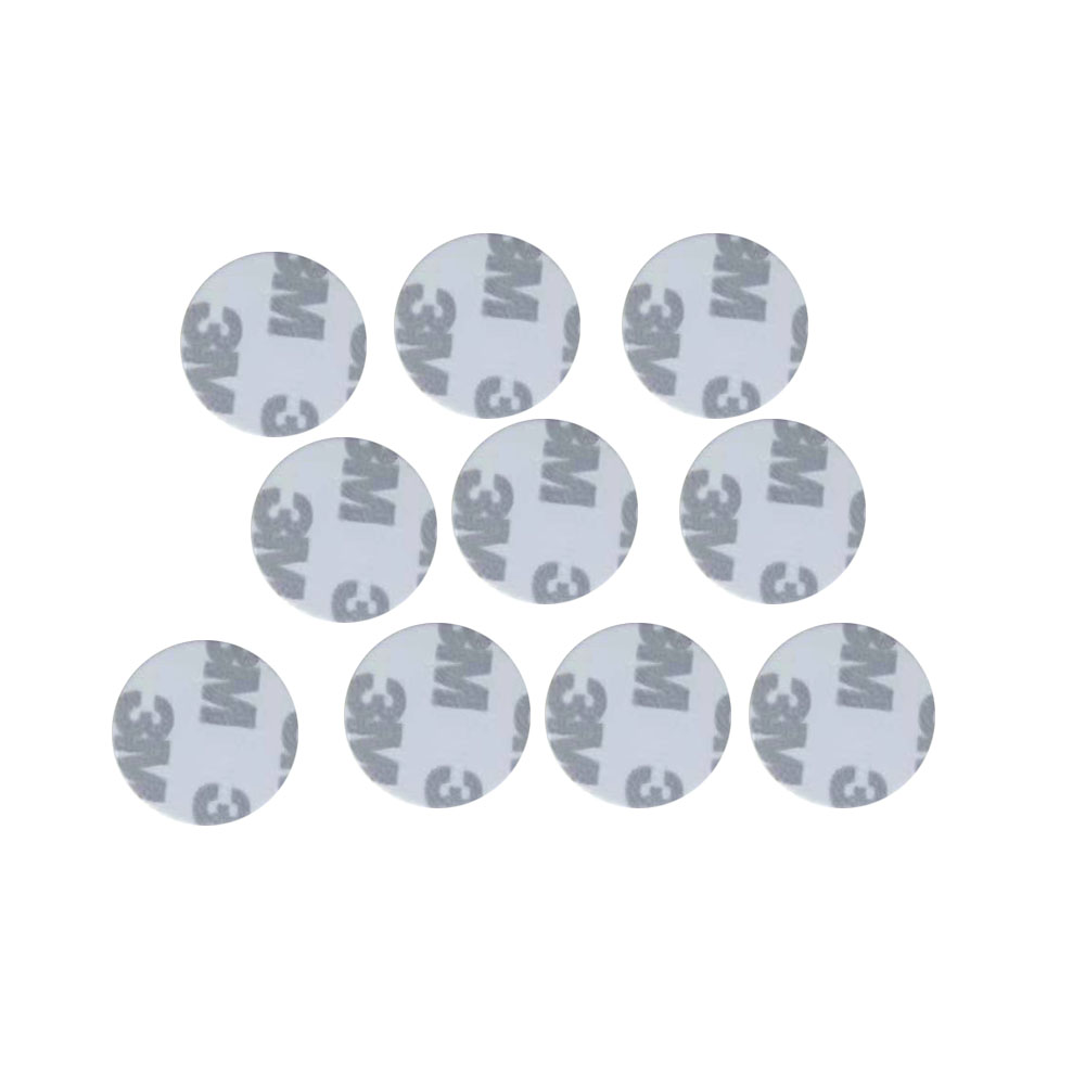 (10PCS/LOT) TK4100(EM4100)New Dellon RFID 125khz 3M Stickers Coins 25mm Smart Tags Read-only Access Control Cards