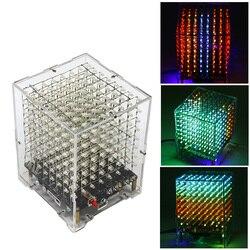 DIY soldadura electrónica Bulk Parts Bluetooth Kit de cubo de luz (con Bluetooth, con bocina, Control remoto, siete cambio de color) -L