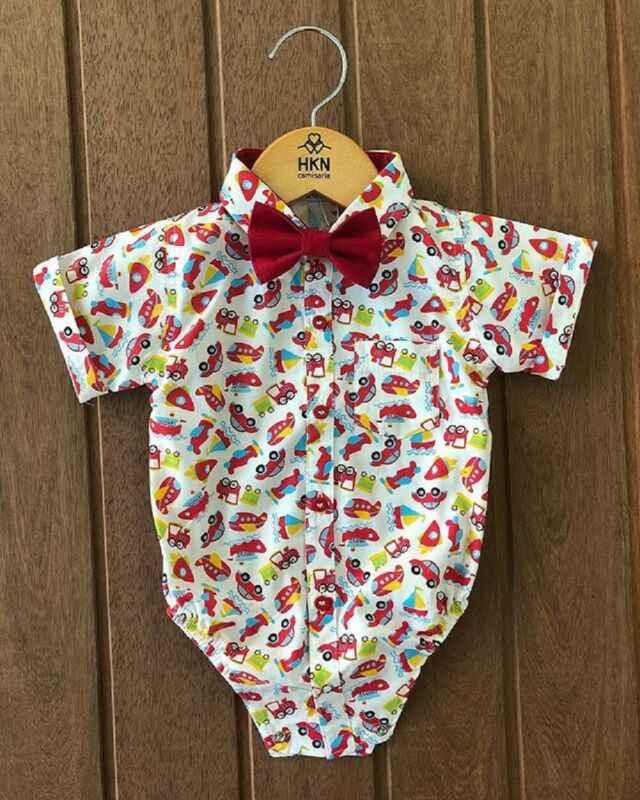 AU Flamingo เด็กวัยหัดเดินเสื้อผ้าสุภาพบุรุษสุภาพบุรุษ Romper Jumpsuit Bodysuit Outfit