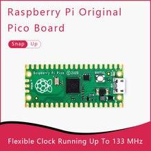 Raspberry pi pico uma placa minúscula, rápida e versátil construída usando rp2040 duplo-núcleo arm Cortex-M0 + processador com 264kb ram