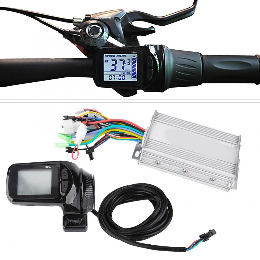 Brushless Motor Controller Stable Less Noise Brushless Speed Controller E-Bike Controller for Electric Bikes 24V36V48V60V 450W