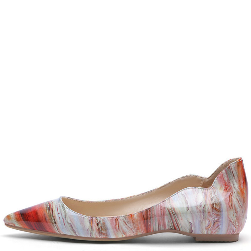 YECHNE Streep Women Platform Shoes Be Teen Flats Fashion Lent Brain Deep Platform Ballet Shoes Plus Size 43 44 45