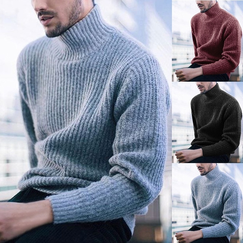 ZOGAA Winter Turtleneck Sweater Men Cashmere Pullover Christmas Sweater Mens Knitted Solid Slim Sweater Pull Homme Jersey Hombre