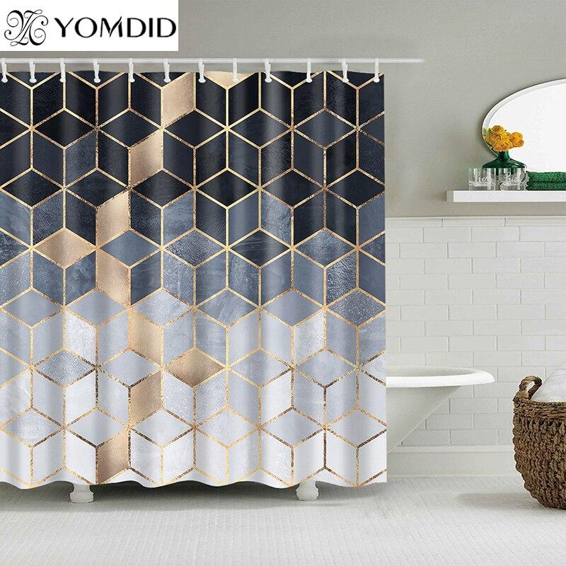 YOMDID Marmor Muster Bad vorhang Wasserdicht Dusche Vorhänge Geometrische Bad Bildschirm Gedruckt Vorhang für Bad Geschenk Navidad