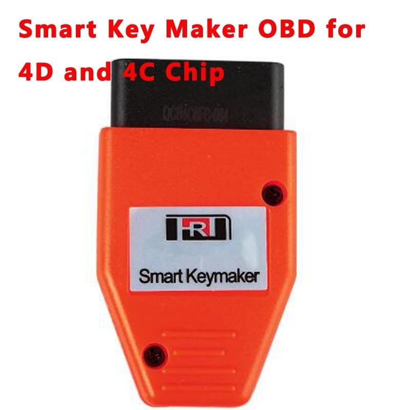 Buy Quality Smart Key Programmer Maker OBD for 4C 4D Chip OBD OBD2 Eobd 16pin Adapter Car Keymaker Transponer