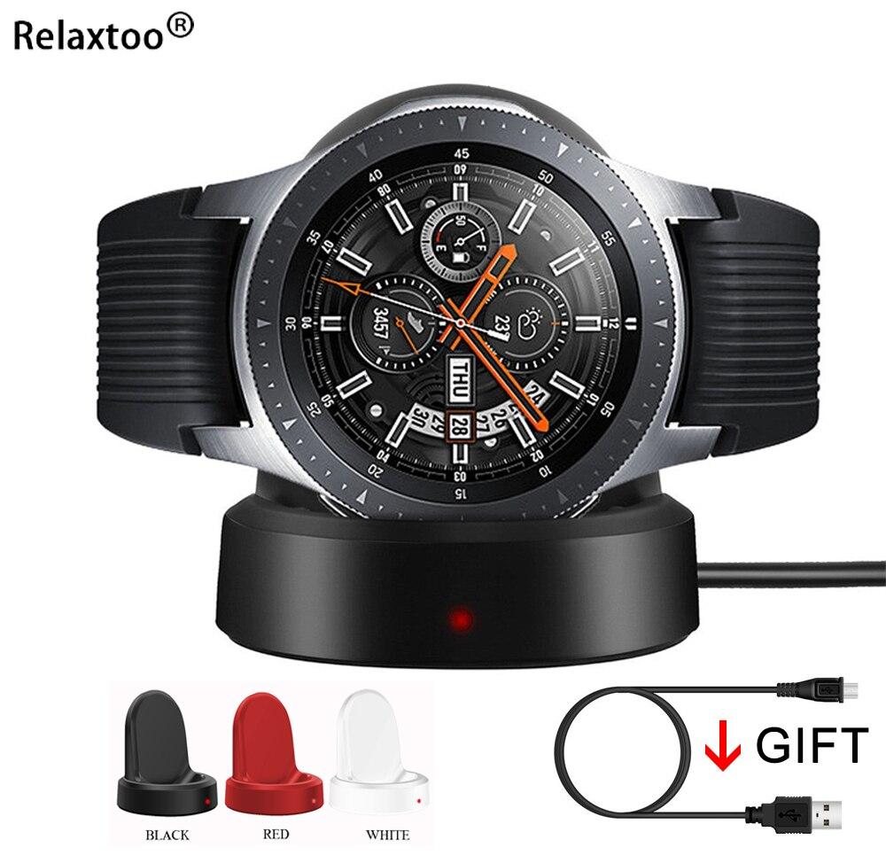 Relaxtoo Smart Watch Wireless Changer For Samsung Galaxy Watch/Gear Sport/Gear S2/Gear S3 42mm 46mm Charging Base Dock Station