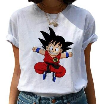 Dragon Ball Z Harajuku Funny T Shirt Women Kawaii Son Goku Anime T-shirt Super Saiyan Ullzang Tshirt 90s Graphic Top Tees Female