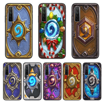 Frosting Hearthstone Phone Case For Huawei Nova p10 lite 7 6 5 4 3 Pro i p Smart ZBlack Etui 3D Coque Painting Hoesje image