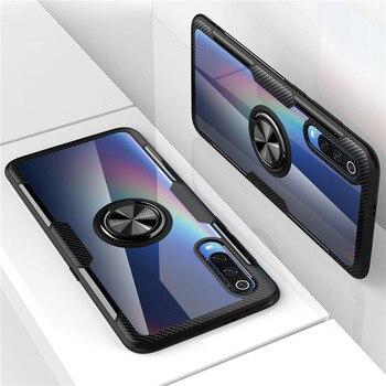 Funda protectora de vidrio templado con anillo magnético para Samsung Galaxy A50 A50S A30S A70 A40 A30 A20 A10 M10 M20 M30