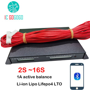 Image 1 - 1A 2A BALANCE 2 ~ 16Sแบตเตอรี่ลิเธียมActive EqualizerบลูทูธAPP BMS Li Ion Lipo Lifepo4 LTO Balancer JK 4S 7S 8 10S 13S