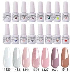 Clou Beaute Nude Colors White Pink Gel Nail Polish Varnish Nail Manicure Semi-Permanent Nail Gel Soak Off UV Lacquer Nail Art
