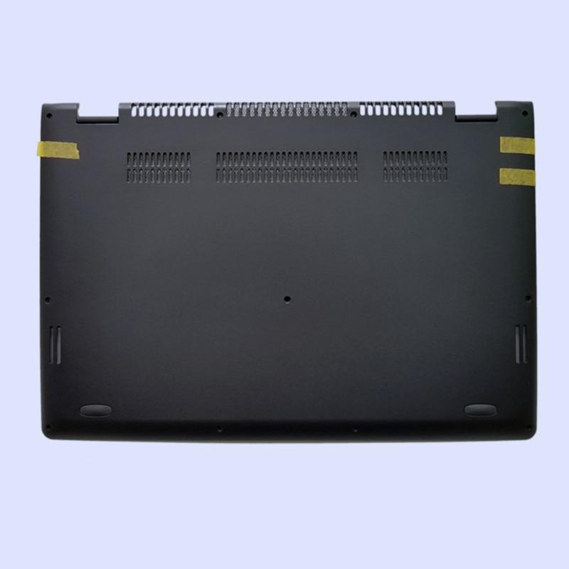 Новая Оригинальная ЖК-задняя крышка для ноутбука/передняя рамка/Упор для рук верхняя/Нижняя чехол для LENOVO Yoga 3-14 YOGA 700-14ISK серия - Цвет: black bottom case