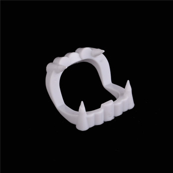 1pc Luminous Vampire Fake Teeth Dracula Teeth Halloween Monster Werewolf Zombie Fangs Halloween Masquerade Cosplay Costume Prop image