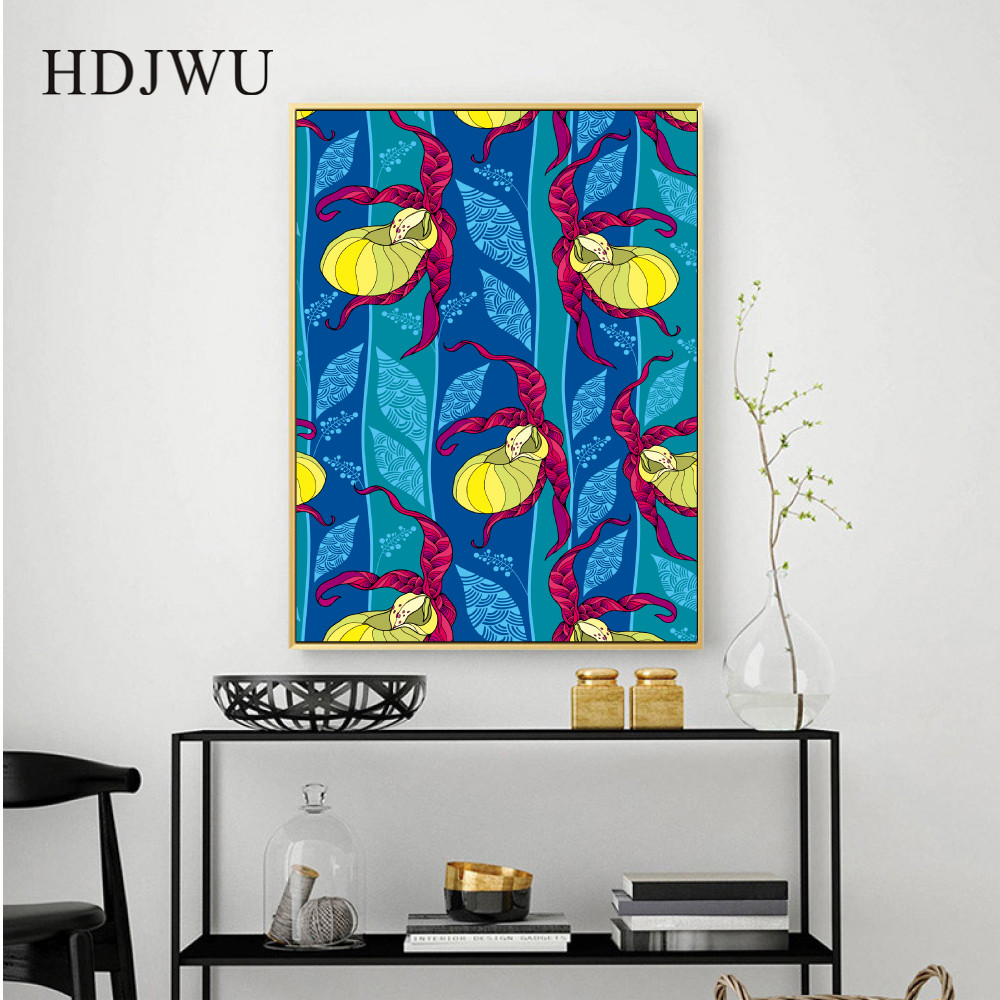 Nordic Art Home Decor Canvas Painting Wall Picture Fashion Plant Abstract Printing Wall Poster for Living Room DJ464 in Painting Calligraphy from Home Garden