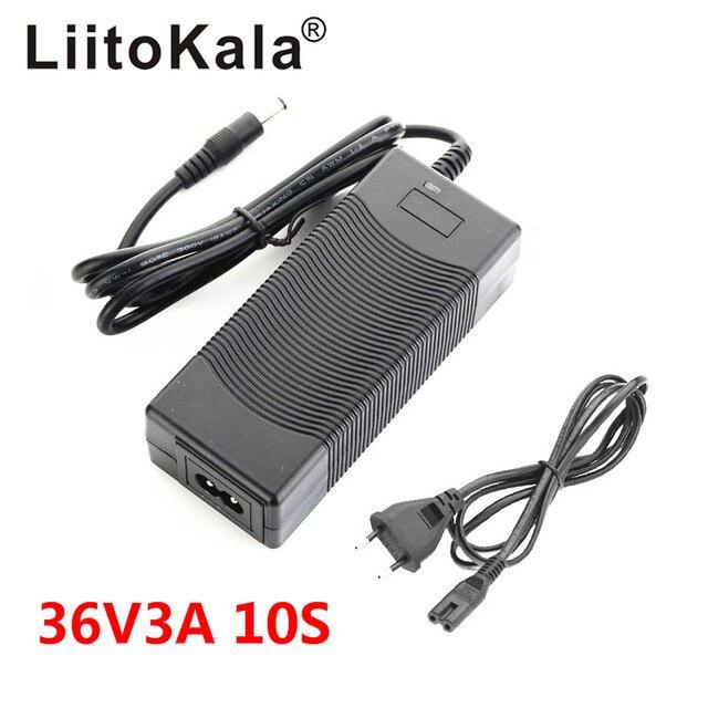 LiitoKala 12V 24V 36V 48V 3 סדרת 6 סדרת 7 סדרת 10 סדרת 13 מחרוזת 18650 סוללת ליתיום מטען 12.6V 29.4V DC 5.5*2.1mm