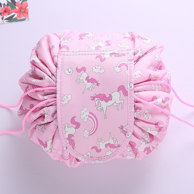 2020 Women Drawstring Travel Cosmetic Bag Makeup Bag Organizer Make Up Cosmetic Bag Case Storage Pouch Toiletry Beauty Kit Box