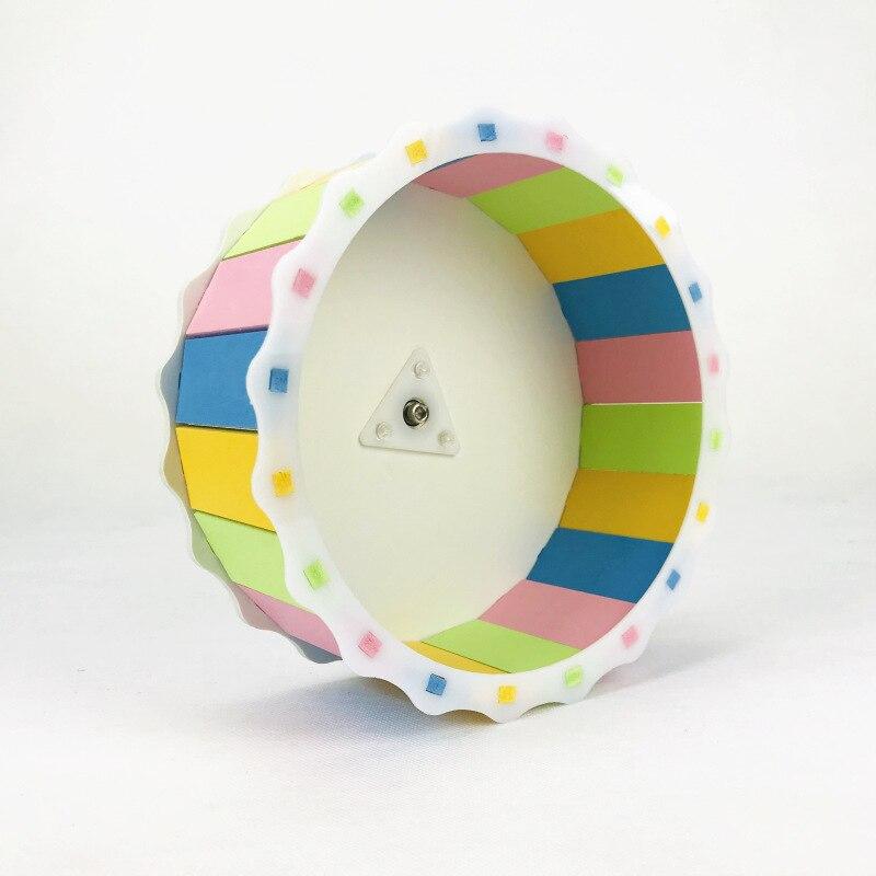 Brinquedo mudo pequeno da roda do esporte de execução do animal de estimação, apropriado para a chinchila animal pequena do hamster