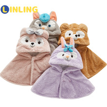 LINLING Fall and Winter Baby Boy Thick Cloak Cape Cloak Baby Girl Winter Coat P723