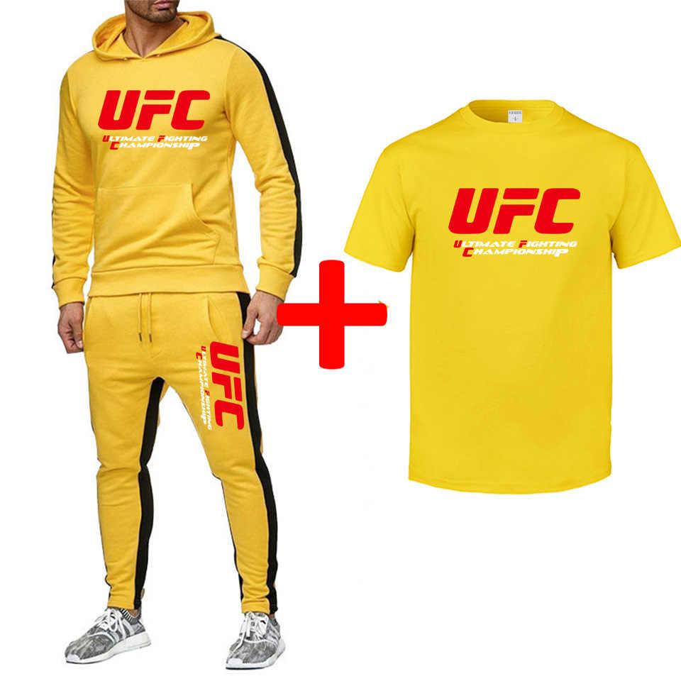 frío función sin embargo  UFC series ultimate fight game sudadera casual de algodón + pantalones de  chándal + Camiseta Paquete de 3 piezas 2019 nuevo| | - AliExpress