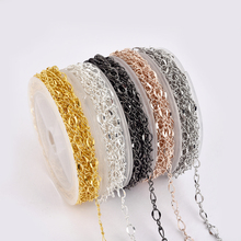 DIY Jewelry Kit 5M Iron Chain 30 Lobster Clasps 70 Opening Rings Set For DIY Necklace Bracelet Jewelry Making Finding 5 Color
