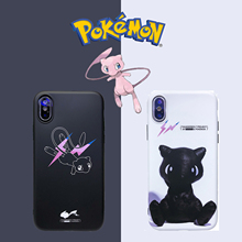 Luxury Fragment Design X Pokemons Mew Phone Case Cute for iPhone 6 6s 7 8 Plus XS XR XSMax Soft Cover
