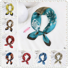 The New High end Mulberry Silk Small Square Scarf Women  All -Match Korean Headscarf Work Occupation Neckerchief Printing
