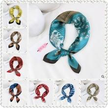 Новый высокий конец шелковицы шелк небольшой площади шарф женщин all-матч корейский платок рода деятельности платка печати