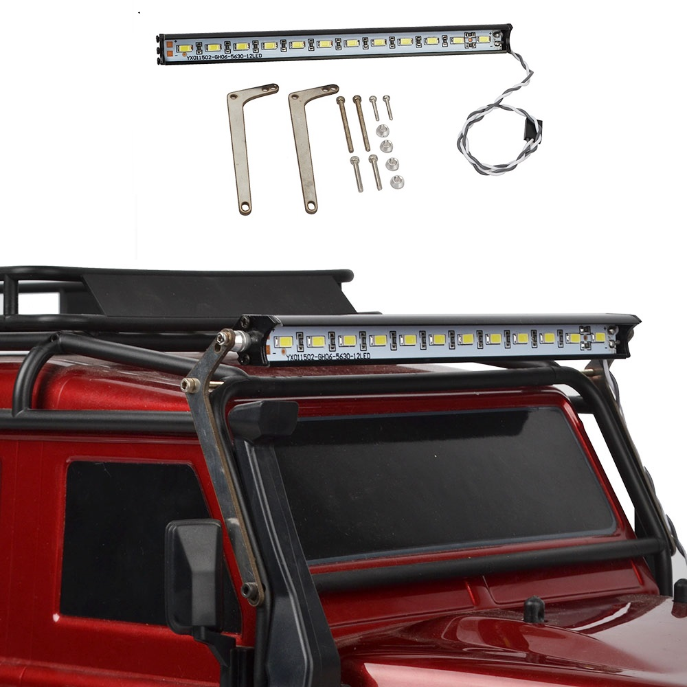 RC Car parts 12 LED Roof Lamp Light Bar for Traxxas Trx-4 Trx4 Defender