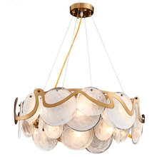Art deco modern living room chandelier LED hanglamp AC110V 220V glass bedroom dinning room light fixtures(China)