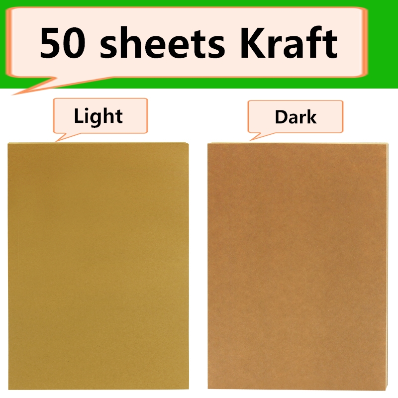 kraft cor da caixa de papel adesivo