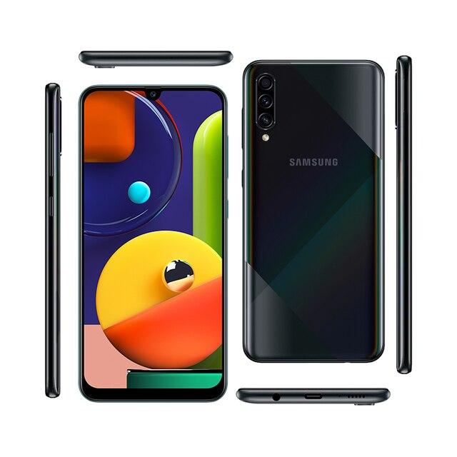 Samsung Galaxy A50s Mobile Phones NFC 6GB 128GB 6.4'' FHD+ Samsung Exynos Octa Core 48MP AI Triple Camera 4000mAh Cellphones 5