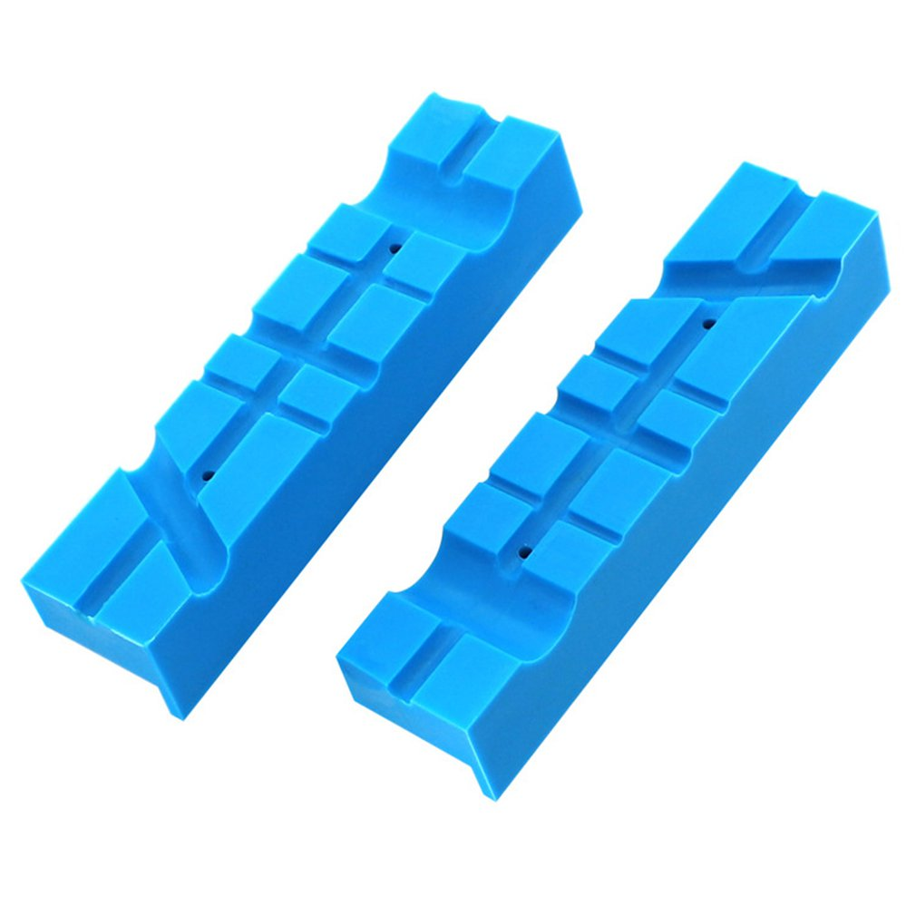 Magnetic Bench Vice Jaw Pad Multi-groove Vise Holder Heavy Grips For Milling Cutter Drilling Machine Accessoriess
