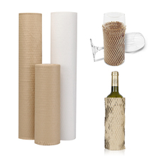 50CM Kraft Paper Roll Gift Packaging Honeycomb Paper Handmade Decorative Gift Packing Material Wedding Birthday Party Household