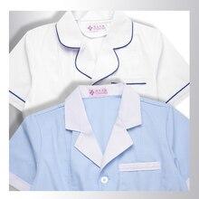 Салон красоты летнее платье косметолог униформа корейский татуировки фармации одежда корейской версии синий аптеку для медсестер