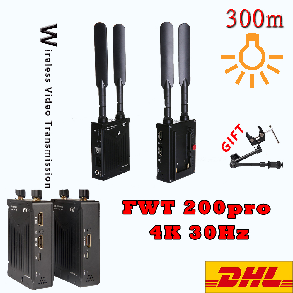 Feidu FWT-200pro 4K 30Hz Беспроводная передача изображения HD видео передатчик приемник для камеры Canon Nikon Sony
