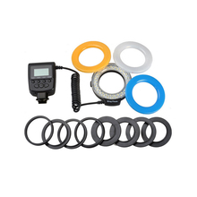 48 шт. макро светодиодный комплект вспышки кольца с 8 адаптером кольцо для Canon Olympus SONY и SLR микро светодиодный кольцевой вспышки DSLR камеры вспышки