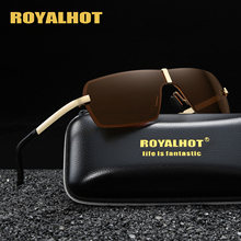 RoyalHot Polarized Rimless Sunglasses Men Women  Driving Sun Glasses Shades Oculos masculino Male 90079