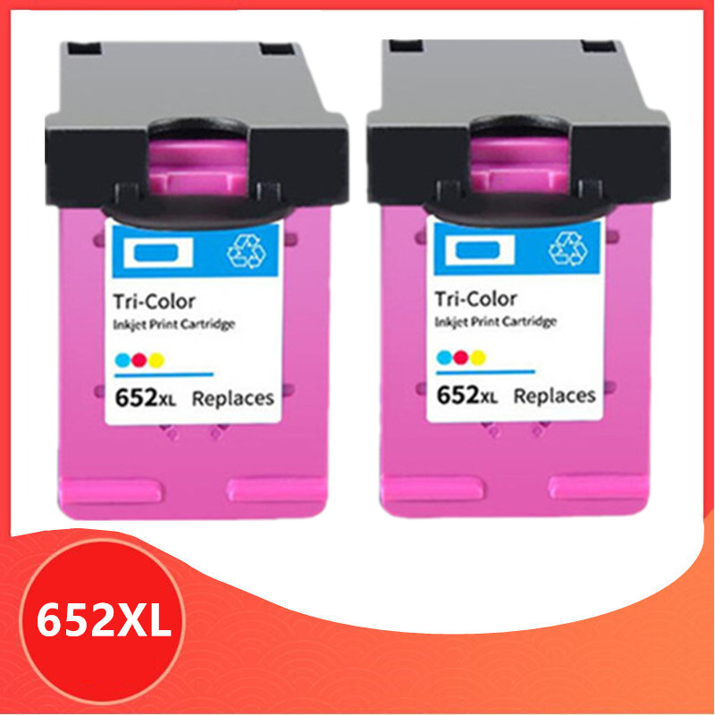 2PC Color Compatible 652XL <font><b>652</b></font> <font><b>ink</b></font> <font><b>cartridge</b></font> for <font><b>HP</b></font> <font><b>652</b></font> XL for HP652 Deskjet 1115 1118 2135 2136 2138 3635 3636 3835 4535 image