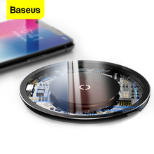 цена на Baseus 10w QI Wireless Charger For iPhone Xs X 8 Fast Wireless Charger For Samsung Galaxy S9 S8 Note 9 8 Wireless Charging Pad